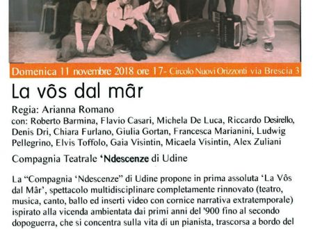 """""""La Vôs dal Mâr"""" per Teatro d'Autunno"""